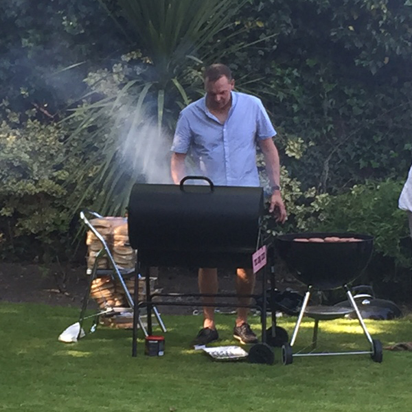 Gary Russell at the barbecue